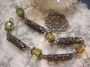 Our Hand Oxidized Small Lace Filigrees Also Make Wonderful Connector Tube Beads. The Filigree Is Just Bent Around A Small Tube...Like A Screwdriver Or A Thin Pen